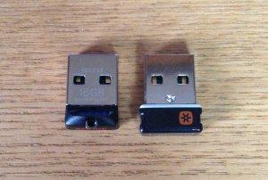USBメモリ 上から