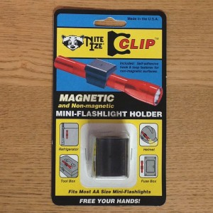 MAGNETIC MINI-FLASHLIGHT HOLDER